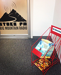 Find us at StokeFM in Revelstoke on this cute little rack.