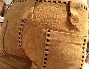 leather pants bum