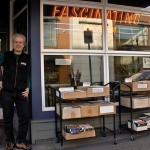 Steve Lebitschnig in front of his Nanaimo store