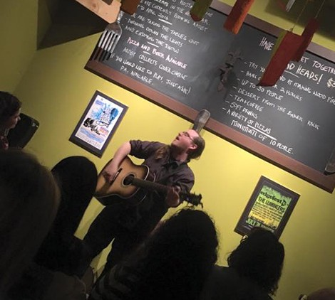 Richard Garvey performing at Bread Heads in Kitchener, ON