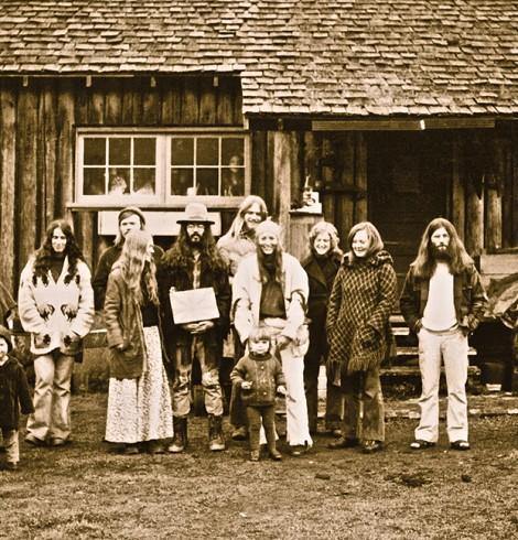Hippies at Stump Farm, Gabriola Island.