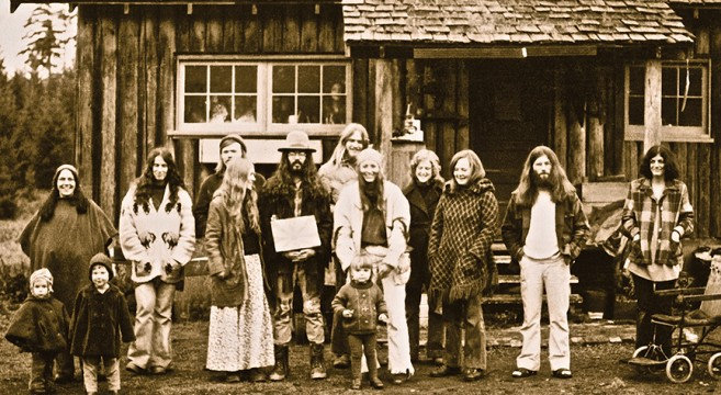 Hippies at Stump Farm, Gabriola Island.