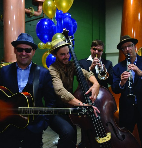 The lineup for Dave Lang and the Insolent Rabble varies, but at the grand opening of the Victoria Caledonia Brewery and Distillery Sept. 10 included Dave on guitar and lead vocals, Joe Hatherill on clarinet, Matt Bawtinheimer on trumpet and Tim Croft on upright.