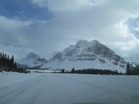 Hwy 93 between Jasper & Banff